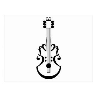 Carte Postale Notation de guitare