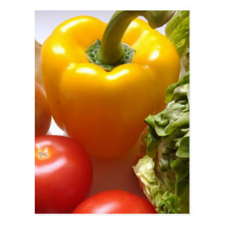 Carte Postale Nourriture saine de laitue de légumes de tomates
