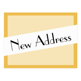 Carte Postale Nous avons déplacé la nouvelle adresse