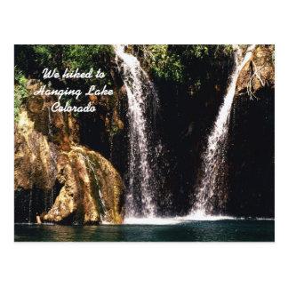 Carte Postale Nous avons trimardé au lac accrochant, le Colorado