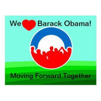 Carte Postale Nous coeur Barack Obama-Se déplaçant en avant