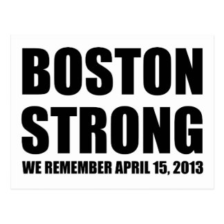 Carte Postale Nous nous rappelons Boston