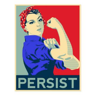 Carte Postale Nous pouvons le faire : Rosie le rivoir persiste