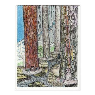 Carte Postale Nous vivons dans les arbres