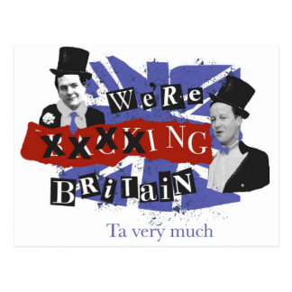 Carte Postale Nous xxxxing la Grande-Bretagne, merci beaucoup