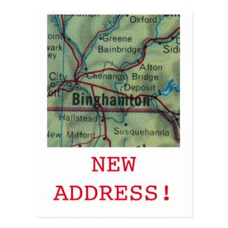 Carte Postale Nouveau faire-part d'adresse de Binghamton
