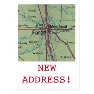Carte Postale Nouveau faire-part d'adresse de Fargo