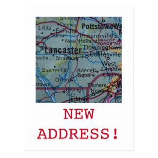 Carte Postale Nouveau faire-part d'adresse de Lancaster