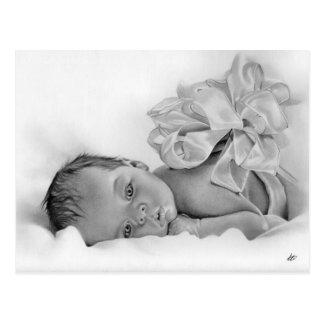 Carte postale nouveau-née de cadeau de bébé