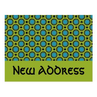 Carte Postale Nouveau vert de turquoise d'adresse