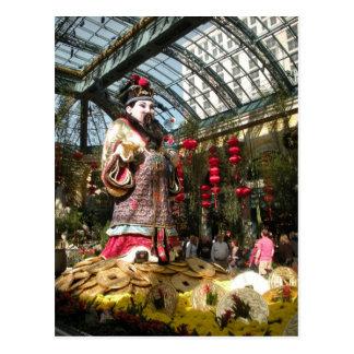 Carte Postale Nouvelle année chinoise aux jardins de Bellagio