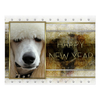 Carte Postale Nouvelle année - élégance d'or - abricot de