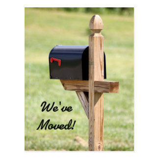 Carte Postale Nouvelle boîte aux lettres d'adresse