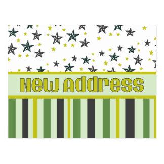 Carte Postale Nouvelles rayures et étoiles d'adresse