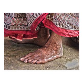 Carte Postale Nu-pieds au temple