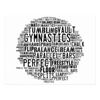 Carte Postale Nuage de mot de gymnastique