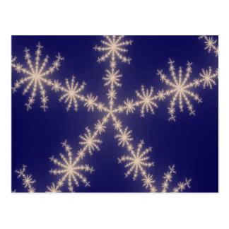 Carte Postale Nuit de fractale de flocon de neige