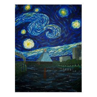 """Carte Postale """"Nuit étoilée de Memphis"""" par Jack Lepper"""