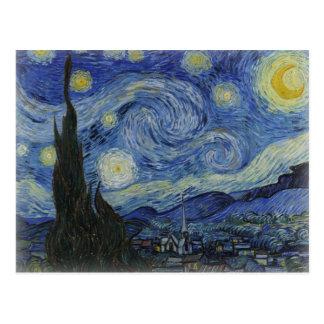 Carte Postale Nuit étoilée de Van Gogh