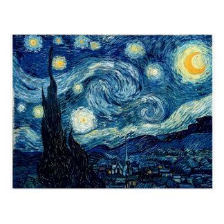 Carte Postale Nuit étoilée par Vincent van Gogh