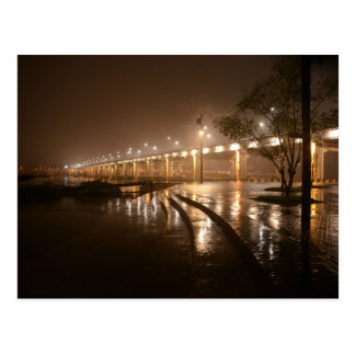 Carte Postale Nuit légère de pluie