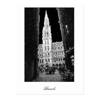 Carte Postale Nuit sur l'endroit grand, Bruxelles