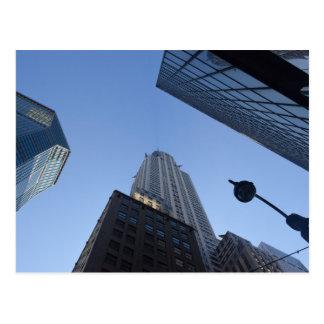 Carte Postale nyc, nouveau, York, ville, Amérique, Chrysler,