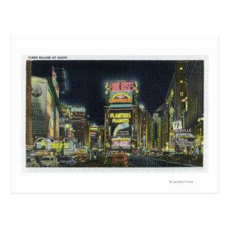 Carte Postale NYC, nouveau YorkView de Times Square la nuit # 2
