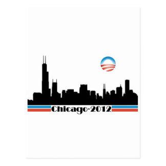 Carte Postale Obama 2012 - Horizon de Chicago