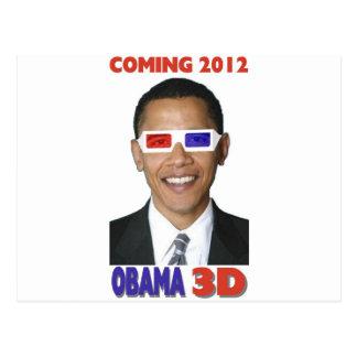 Carte Postale Obama 3D