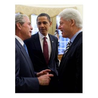 Carte Postale Obama Bush et Clinton