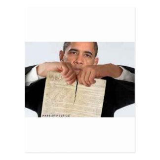Carte Postale Obama déchirant la constitution