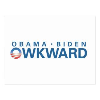 Carte Postale Obama est Owkward