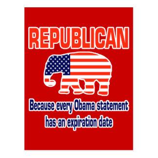 Carte Postale Obama républicain drôle