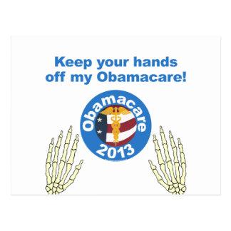 Carte Postale Obamacare remet outre de mon Obamacare