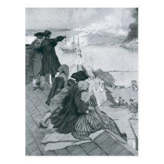 Carte Postale Observation du combat à l'illustration de colline