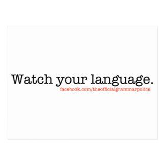 Carte Postale Observez votre langue