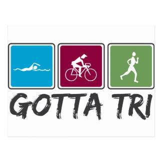Carte Postale obtenu à tri (triathlon)