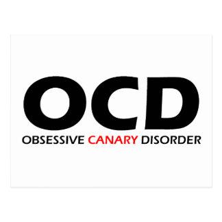 Carte Postale OCD - Désordre jaune canari obsédant