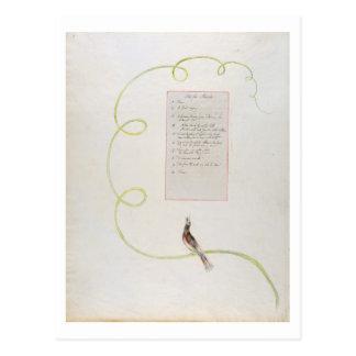 """Carte Postale """"Ode pour la musique"""" conception 94 'des poèmes de"""