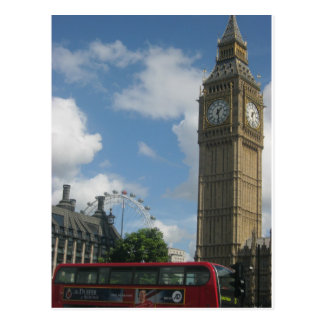 Carte Postale Oeil et Big Ben de Londres