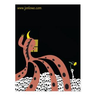 Carte Postale Oeuvre d'art noir de Jen Lowe