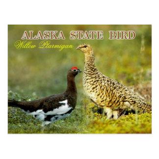 Carte Postale Oiseau d'état de l'Alaska - lagopède alpin de