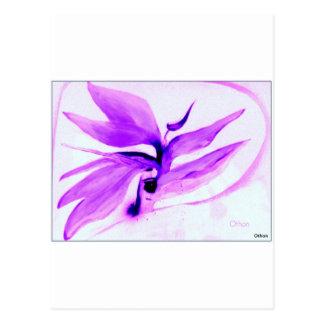 Carte Postale oiseau d'IMG_0109.jpg du paradis dans la violette