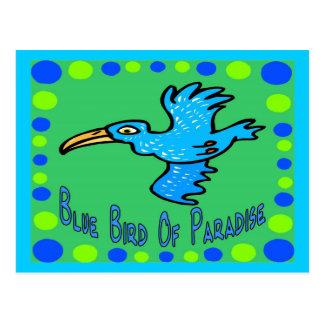 Carte Postale Oiseau du paradis bleu 3