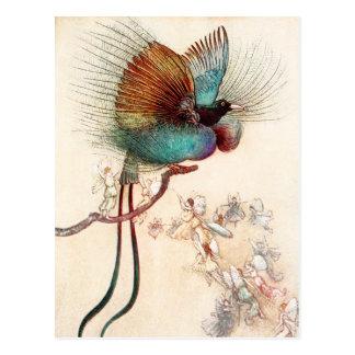 Carte Postale Oiseau du paradis et des fées