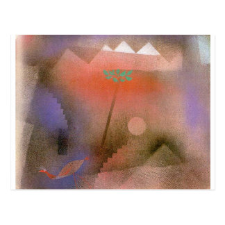 Carte Postale Oiseau errant par Paul Klee
