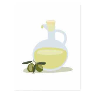 Carte Postale Olives et huile