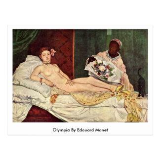 Carte Postale Olympia par Edouard Manet