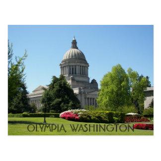 Carte Postale Olympia, voyage de l'état de Washington